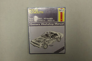 1978-1983 DODGE PLYMOUTH OWNERS WORKSHOP MANUAL
