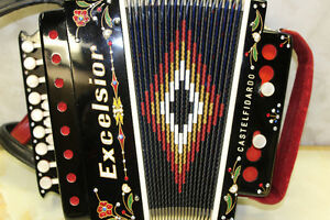 EXCELSIOR button accordion ORGANETTO 2 BASSI