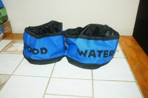 Petmaker Zippered Double PET Food And Water Bowl NEW FREE SHIPPING blue