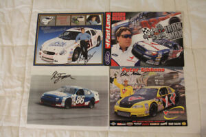 Retro 14 CASCAR Posters with Driver Autographs - Year 2000