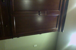 Wood cabinet/ entertainment hutch
