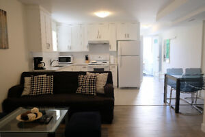 Furnished 2 beds/1 bath Suite in North Burnaby