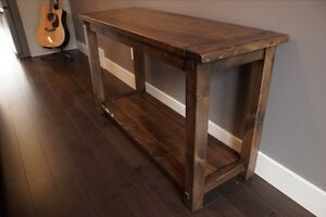 Reclaimed Wood Console Table $615. And more by LIKEN Woodworks