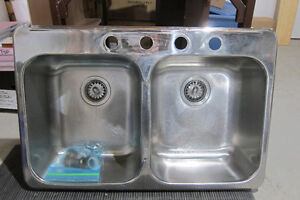 Used Double basin Stainless Steel sink - very good condition