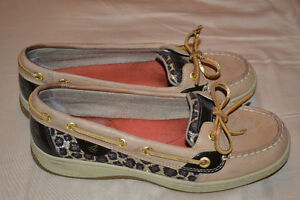 Sperry Boat Shoes - leopard print size 6.5 Kitchener / Waterloo Kitchener Area image 1