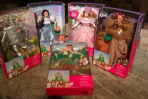 WIZARD OF OZ BARBIES BY MATTEL *SET OF 5* NEW IN BOX Prince George British Columbia image 2