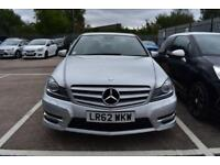 2012 62 MERCEDES-BENZ C-CLASS 2.1 C250 CDI BLUEEFFICIENCY SPORT 4D AUTO 202 BHP