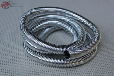 "Plastic Chrome Wire Loom 72"" 5/8 Diameter Hot Rat Street Rod Custom Car Truck"