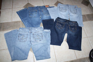 Women's Silver jeans and Levi jeans
