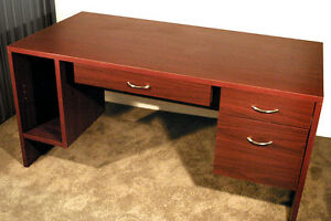 Desk: Simple Desk / Cherry-Style Finish