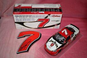 AUTOGRAPHED ROBBY GORDON JIM BEAM NASCAR DIECAST &STICKER