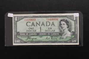 Canada 1954 Devil's Face $1 Bank Note
