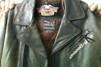 Harley Davidson Woman's Distressed Leather Jacket Large