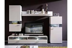 4 Pce Living/Entertainment Room Set - Tv Unit - 2 x Cupboards
