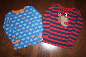Baby GAP Long Sleeve PJ Shirt - Rudolph/Dinosaurs- 5T