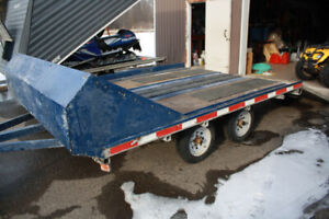 Open Snowmobile Trailer