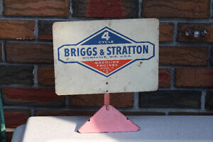 Briggs & Stratton Tin Table Top Sign