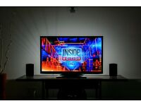"40"" LED TV 1080p full HD USB MOVIES 3 MONTHS OLD CAN DELIVER"