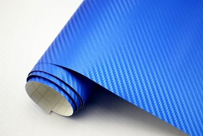 11,5€/m² 3D CARBON FOLIE  - blau metallic - 50 x 152 cm blasenfrei Autofolie