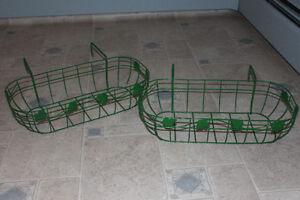 2 Metal Deck Railing Planters