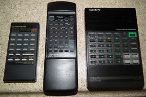 Pioneer,Onkyo And Sony remote controllers