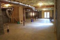 Need contractor to Finnish basement in Milton
