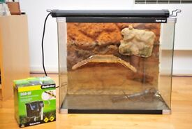 "Turtle Terrarium Pro 60 ""Reptile One"" Terrapin Tank - Pump, Lighting included"