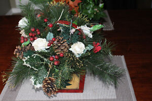 ARTIFICIAL XMAS BASKET $24