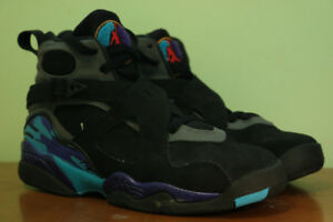 "Jordan 8 Retro ""Aqua 2015"" Lightly Worn"