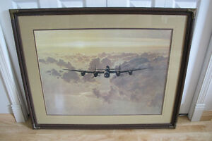 Outbound Lancaster Bomber WW2 by Gerald Coulson