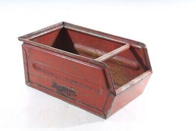 Old Storage Metal Industrial Design Lagersichtbehälter Metal Box Stackable Box