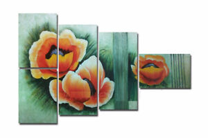 FL5-067,Hand made (not printed) Oil painting  beautiful Flower.