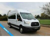 2015 Ford Transit 2.2 460 125PS 17 SEAT MINIBUS EURO 6 AIR CON MINIBUS Diesel Ma