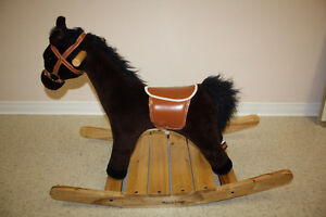 Melissa & Doug Wooden Rocking Horse with Galloping Sound
