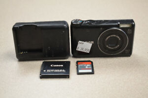 Canon Powershot A2200 HD 14.1 MP Digital Camera w/ SD Card