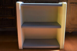 Little Tikes Blue White Bookcase 2 Shelf Child Size Book Case