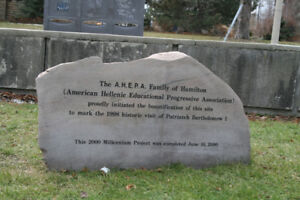 Boulders and Bronze Plaques for Historical Sites