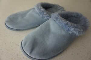 "LADIES SLIDE IN ""SUEDE"" ""TO GO"" SIZE L (9/10) LINED SLIPPERS~NEW"