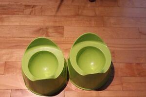 2 petits pots d'entrainement à la propreté