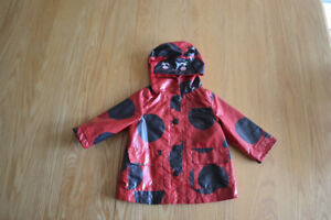Carters Lady bug rain jacket - 12 months