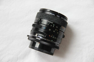 Tamron Adaptall 2 28-50mm / 3.5-4.5 lens w/ Kenko filter & Case