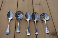 Silver sterling serving spoons