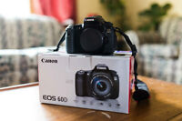 Canon 60D body - with original packaging