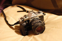 Pentax MX SLR body with lens and auto winder