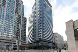 One +Den condo on Bay street for rent with Parking and Locker