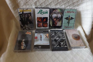 Lot of 80's rock Cassette tapes