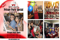PRIVATE PAINT PARTY SPECIAL !
