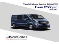 New Vauxhall Vivaro SWB 125ps Bi Turbo Sportive Crew Van *Finance Available*