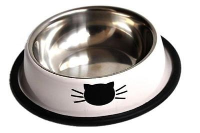 Lot 2 Dog Cat Pet Bowl Stainless Steel Feeding Food Water Random Color -