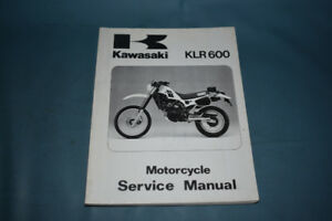 1984 Kawasaki KLR 600 Service Shop Repair Manual Factory OEM